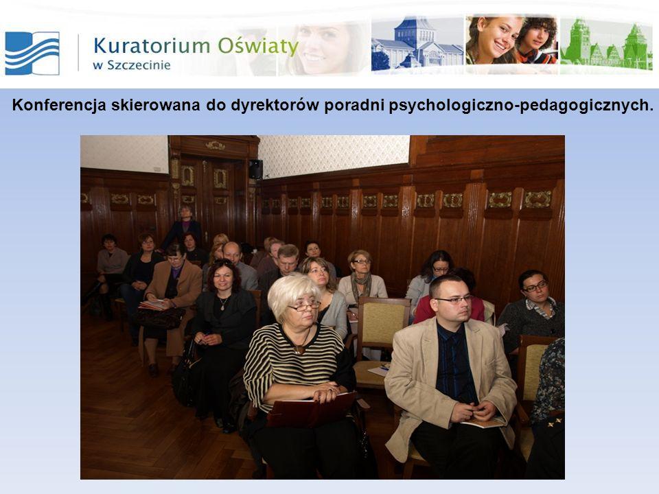 Konferencja organizowana przez Powiatową Poradnię Psychologiczno - Pedagogiczną w Sławnie oraz Starostwo Powiatowe w Sławnie adresowana do pedagogów i psychologów szkolnych oraz dyrektorów szkół i placówek z terenu powiatu sławieńskiego.