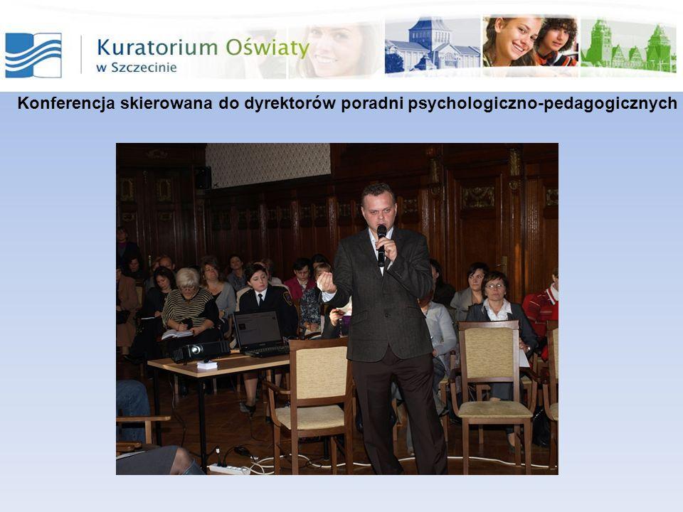 Dwie koszalińskie Poradnie Psychologiczno-Pedagogiczne: Miejska i Powiatowa wspólnie z Towarzystwem Zapobiegania Narkomanii - zorganizowały konferencję Stop dopalaczom .
