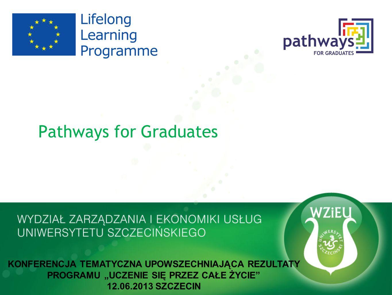 Pathways for Graduates KONFERENCJA TEMATYCZNA UPOWSZECHNIAJĄCA REZULTATY PROGRAMU UCZENIE SIĘ PRZEZ CAŁE ŻYCIE 12.06.2013 SZCZECIN