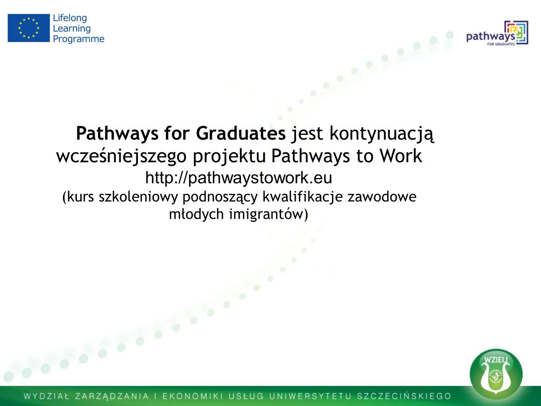 Pathways for Graduates jest kontynuacją wcześniejszego projektu Pathways to Work http://pathwaystowork.eu (kurs szkoleniowy podnoszący kwalifikacje zawodowe młodych imigrantów)