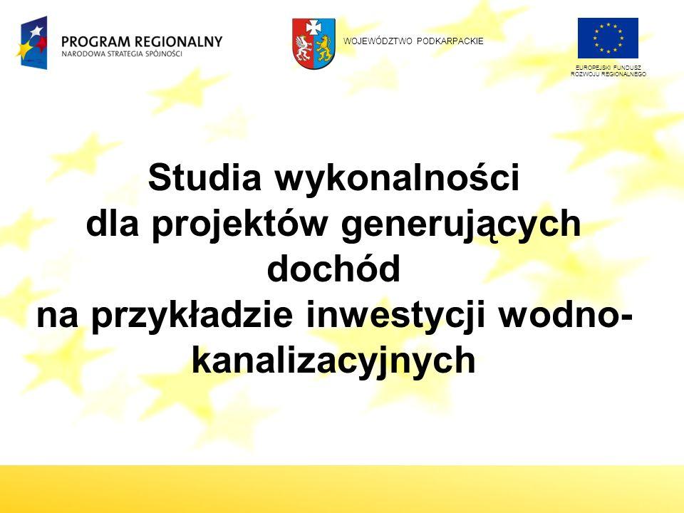 Cel prezentacji Przedstawienie najważniejszych elementów studium wykonalności, w tym w szczególności zasad przeprowadzania analizy finansowej i ekonomicznej projektów wodno-kanalizacyjnych.