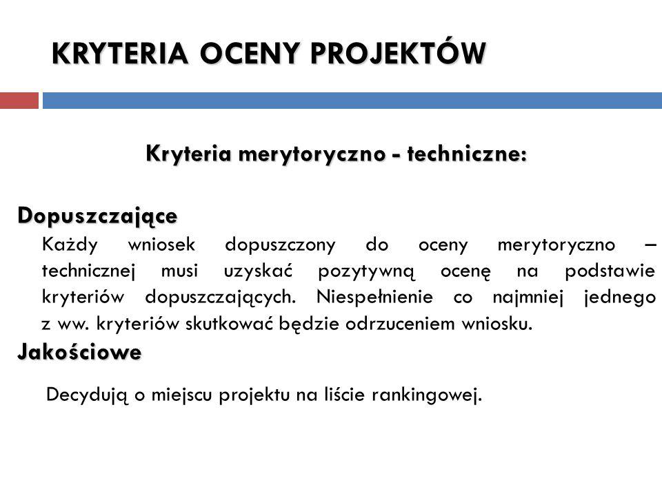 Działanie 5.1 – Infrastruktura edukacyjna kryteria oceny projektów