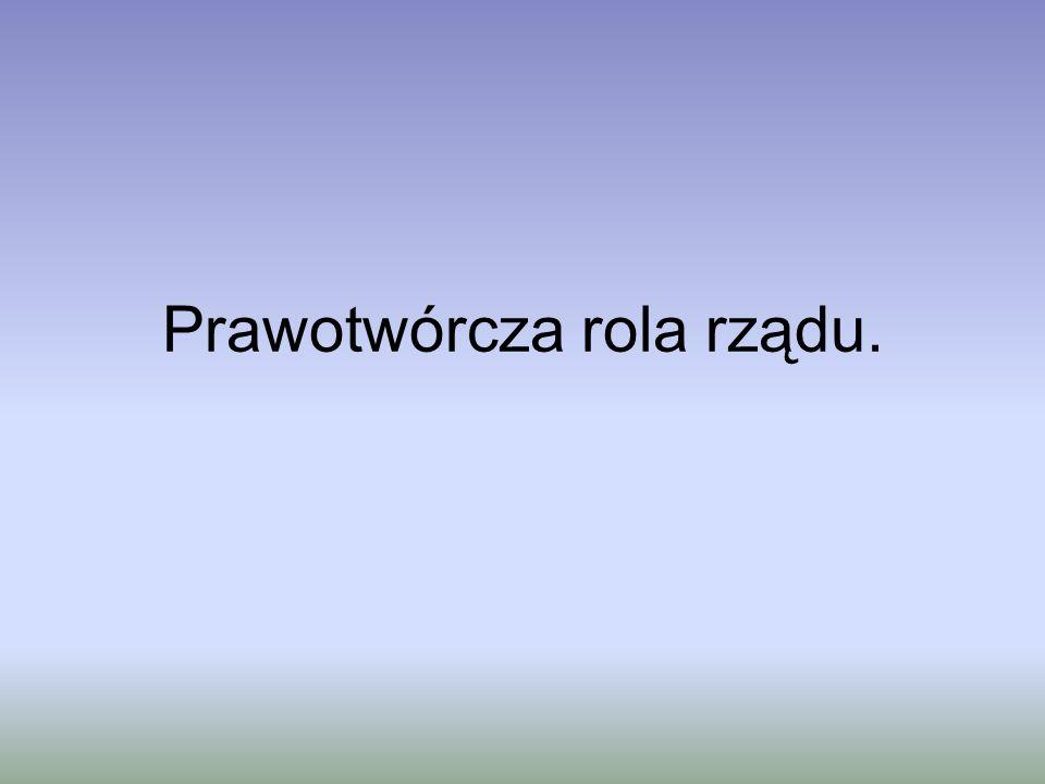 Prawotwórcza rola rządu Przykład Hiszpanii cd.Art.