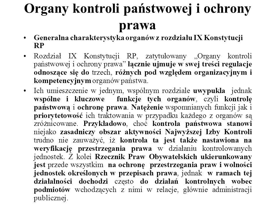 Organy kontroli państwowej i ochrony prawa.NIK. Art.