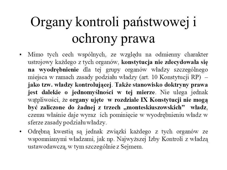 Organy kontroli państwowej i ochrony prawa.Rzecznik Praw Obywatelskich.