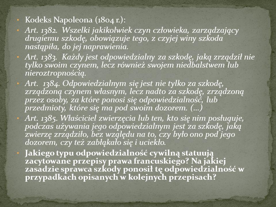 Kodeks Napoleona (1804 r.): Art. 1382.