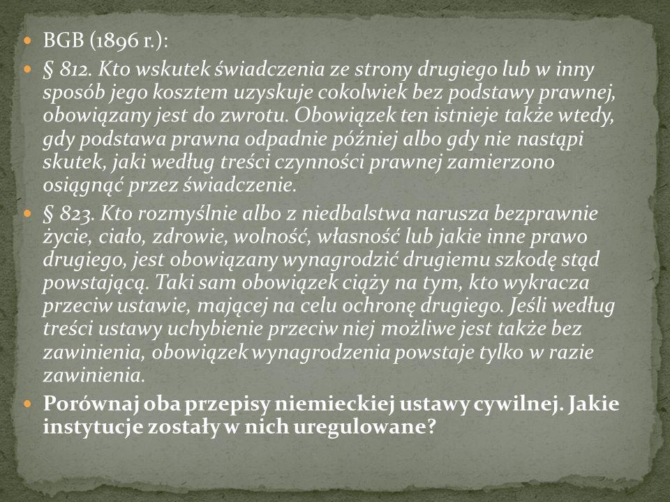 BGB (1896 r.): § 812.