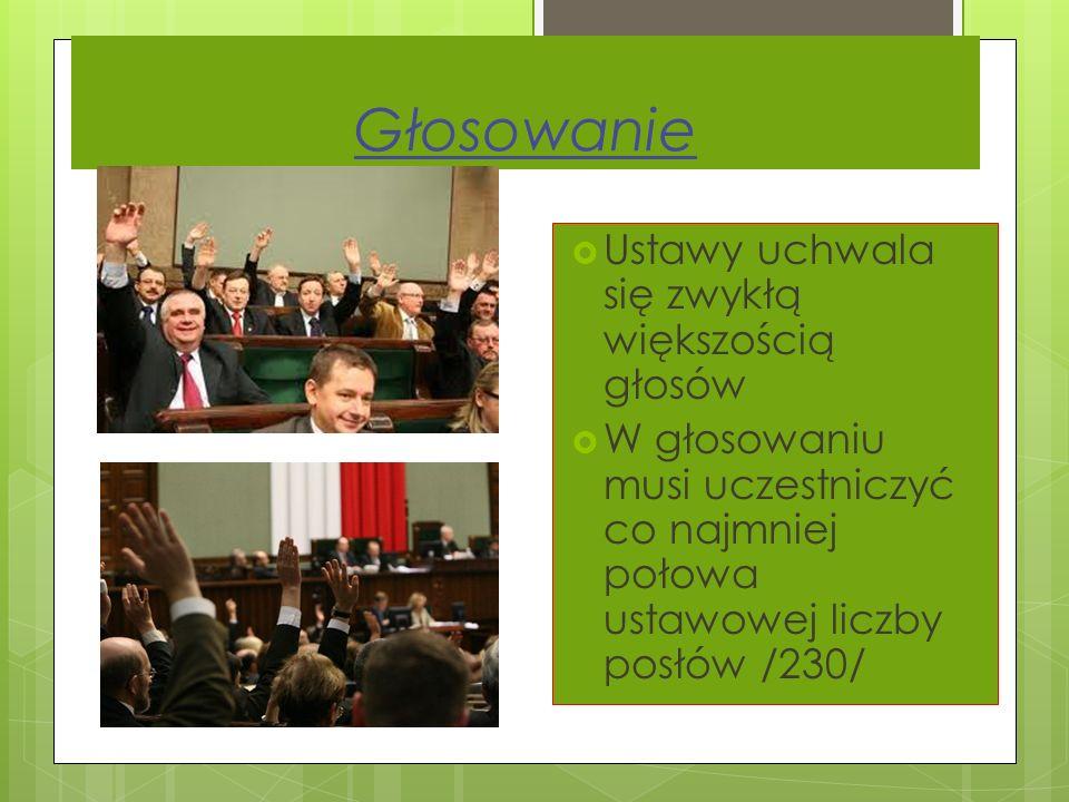 Sejm rozpatruje projekt ustawy w trzech czytaniach W toku prac nad projektem poprawki mogą wnosić: - wnioskodawcy - posłowie - Rada Ministrów Aż do za