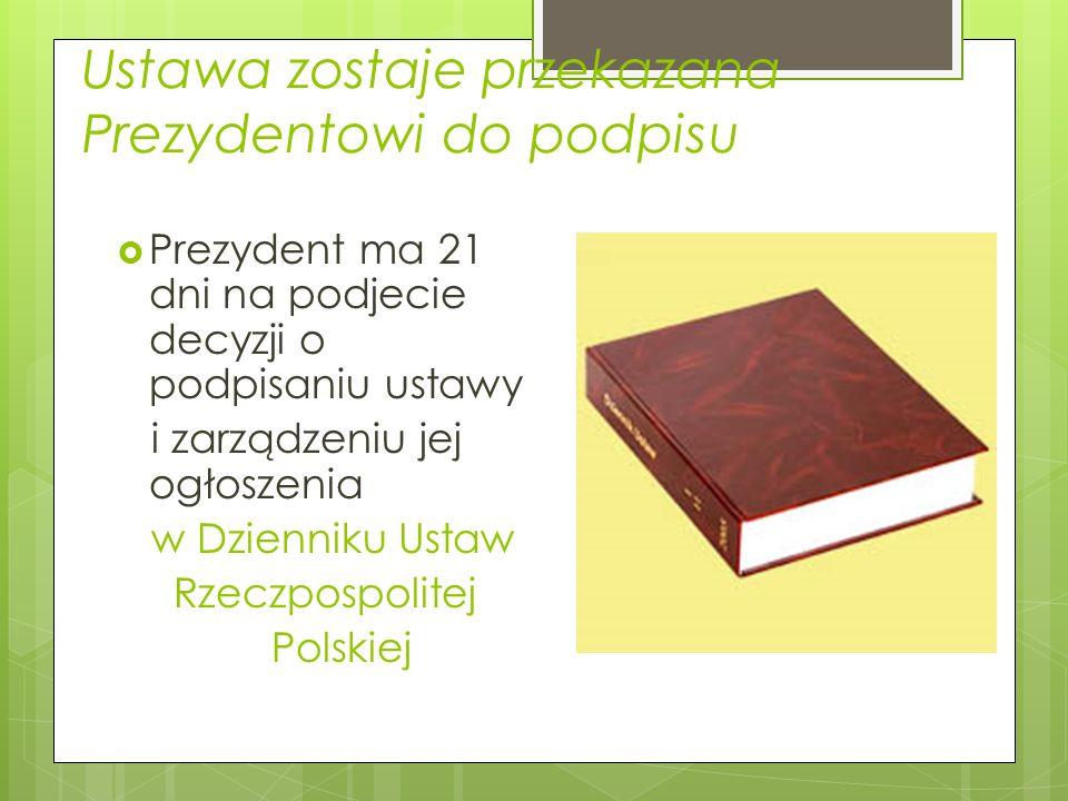Sejm może uchwałę Senatu przyjąć lub odrzucić. Do odrzucenia uchwały Senatu wymagana jest bezwzględna większość głosów /więcej niż połowa posłów uczes