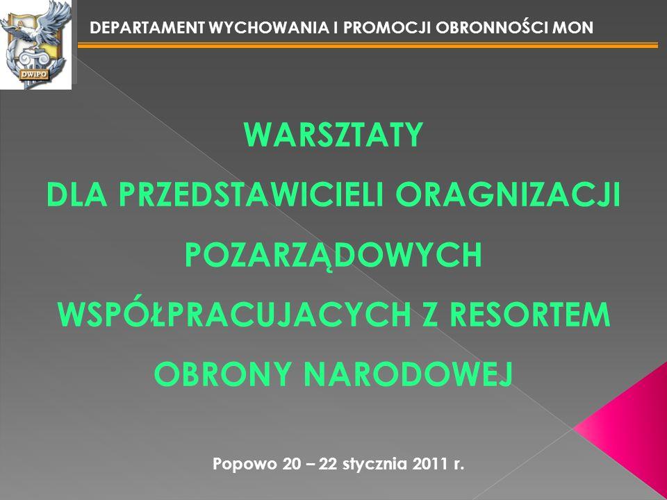 Popowo, 20 – 22 stycznia 2011 r. DEPARTAMENT WYCHOWANIA I PROMOCJI OBRONNOŚCI MON