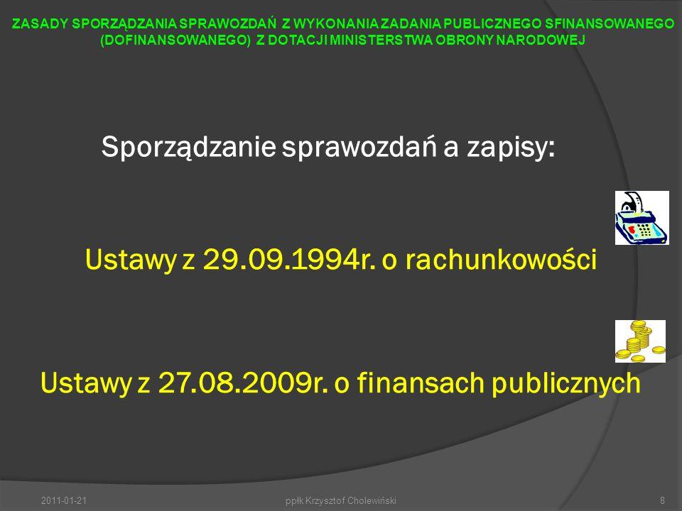 PODSTAWOWE ZASADY SPORZĄDZANIA SPRAWOZDAŃ Z WYKONANIA ZADANIA PUBLICZNEGO SFINANSOWANEGO (DOFINANSOWANEGO) Z DOTACJI MON ZGODNIE ZE WZOREM (załącznikiem do Rozporządzenia Ministra Pracy i Polityki Społecznej w sprawie wzoru oferty i ramowego wzoru umowy dotyczących realizacji zadania publicznego oraz wzoru sprawozdania z wykonania tego zadania).