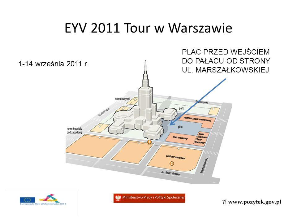 EYV 2011 Tour w Warszawie 1-14 września 2011 r. PLAC PRZED WEJŚCIEM DO PAŁACU OD STRONY UL.