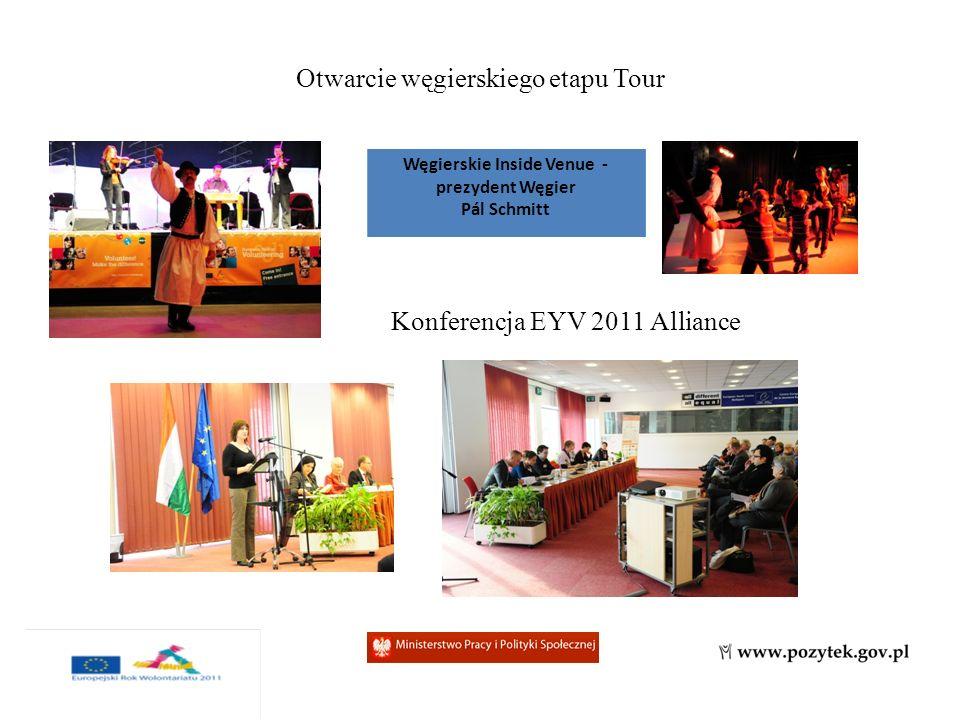 Otwarcie węgierskiego etapu Tour Węgierskie Inside Venue - prezydent Węgier Pál Schmitt Konferencja EYV 2011 Alliance