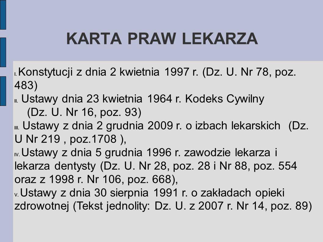 KARTA PRAW LEKARZA 6.