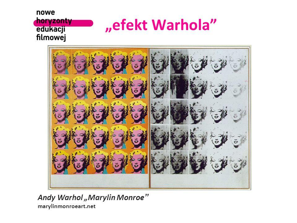 efekt Warhola Andy Warhol Marylin Monroe marylinmonroeart.net