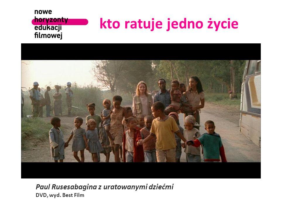 kto ratuje jedno życie Paul Rusesabagina z uratowanymi dziećmi DVD, wyd. Best Film