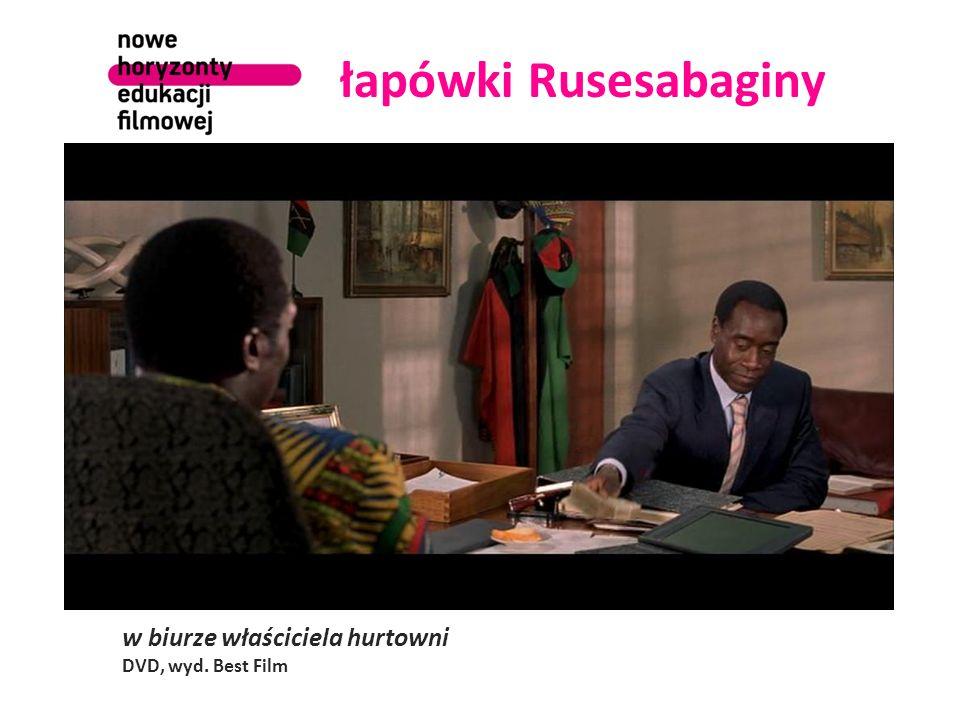 osamotnieni Tutsi scena wyjazdu Europejczyków z hotelu DVD, wyd. Best Film