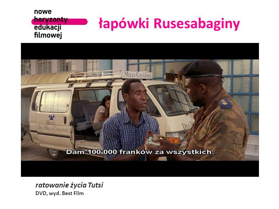 łapówki Rusesabaginy ratowanie życia Tutsi DVD, wyd. Best Film