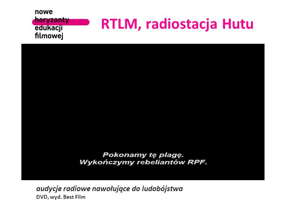 RTLM, radiostacja Hutu audycje radiowe nawołujące do ludobójstwa DVD, wyd. Best Film