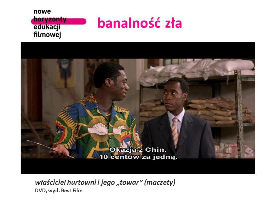 banalność zła maczeta i jej potencjalna ofiara z plemienia Tutsi DVD, wyd. Best Film