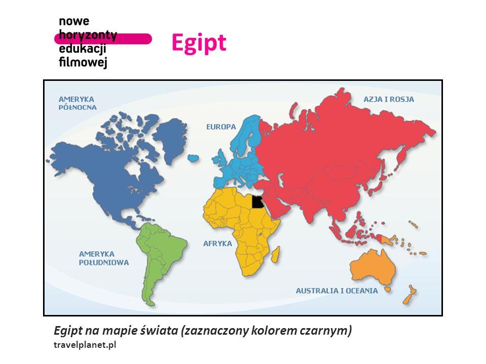 Egipt Egipt na mapie świata (zaznaczony kolorem czarnym) travelplanet.pl