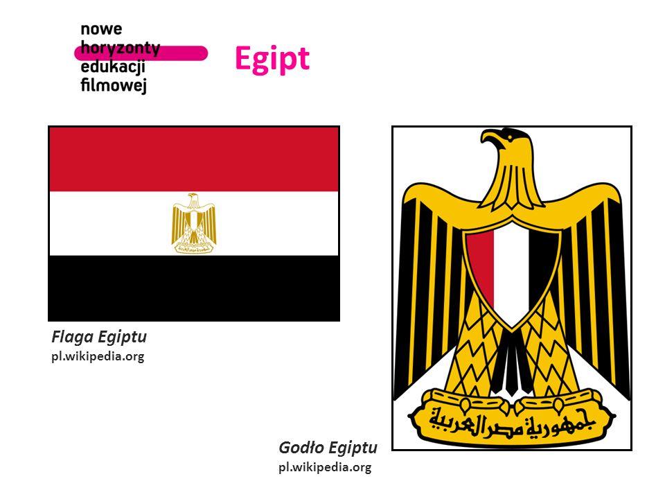 Egipt Flaga Egiptu pl.wikipedia.org Godło Egiptu pl.wikipedia.org