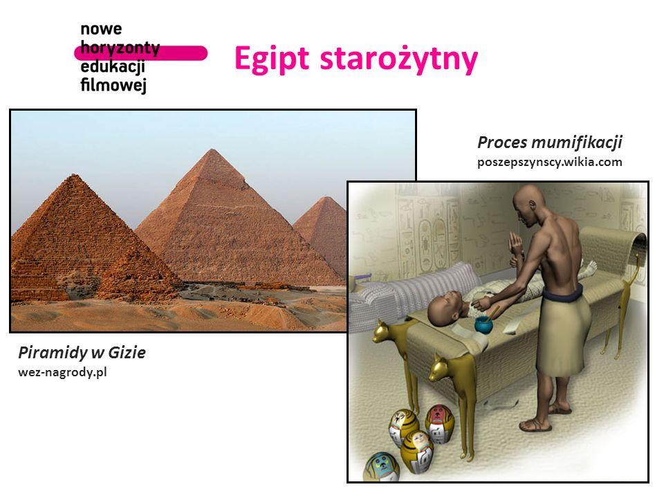 Egipt starożytny Piramidy w Gizie wez-nagrody.pl Proces mumifikacji poszepszynscy.wikia.com