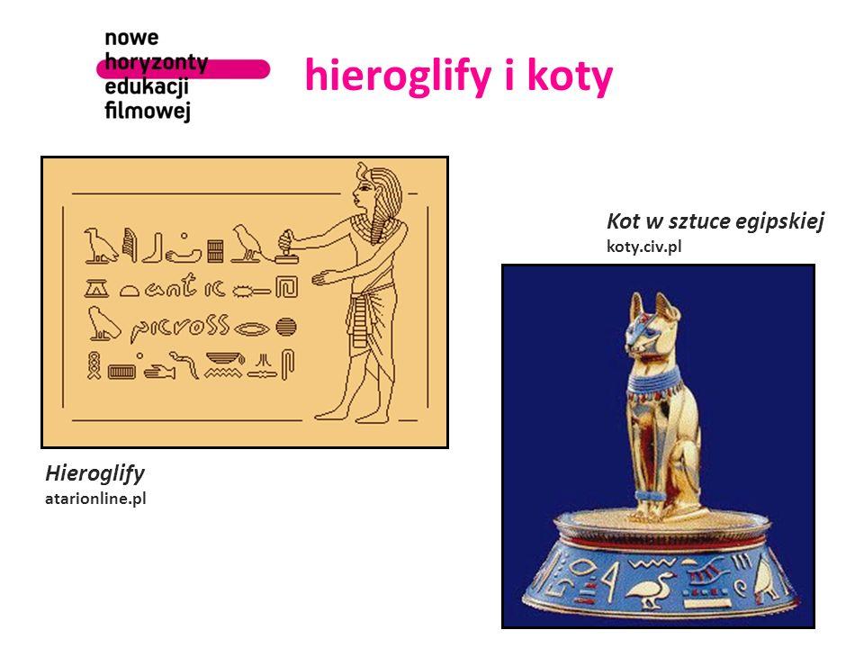 hieroglify i koty Kot w sztuce egipskiej koty.civ.pl Hieroglify atarionline.pl