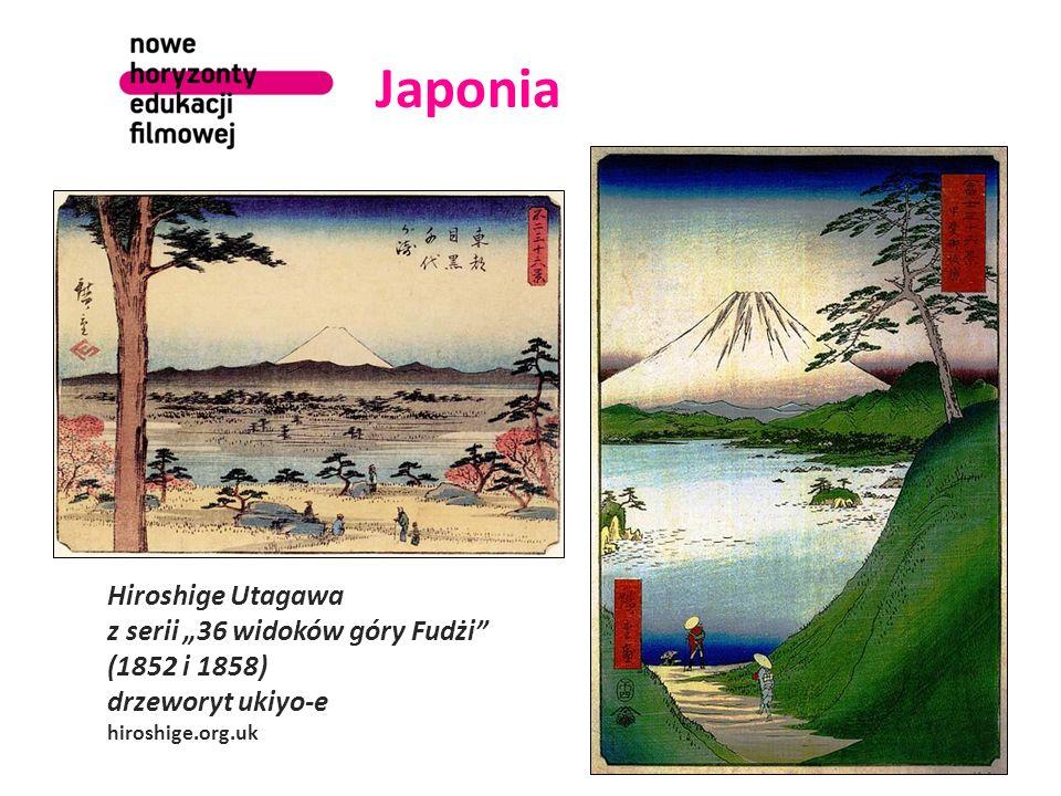 Japonia Hiroshige Utagawa z serii 36 widoków góry Fudżi (1852 i 1858) drzeworyt ukiyo-e hiroshige.org.uk