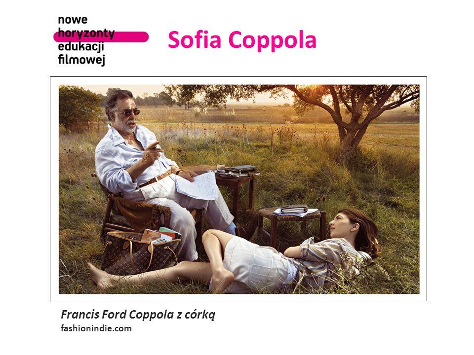 Sofia Coppola Francis Ford Coppola z córką fashionindie.com