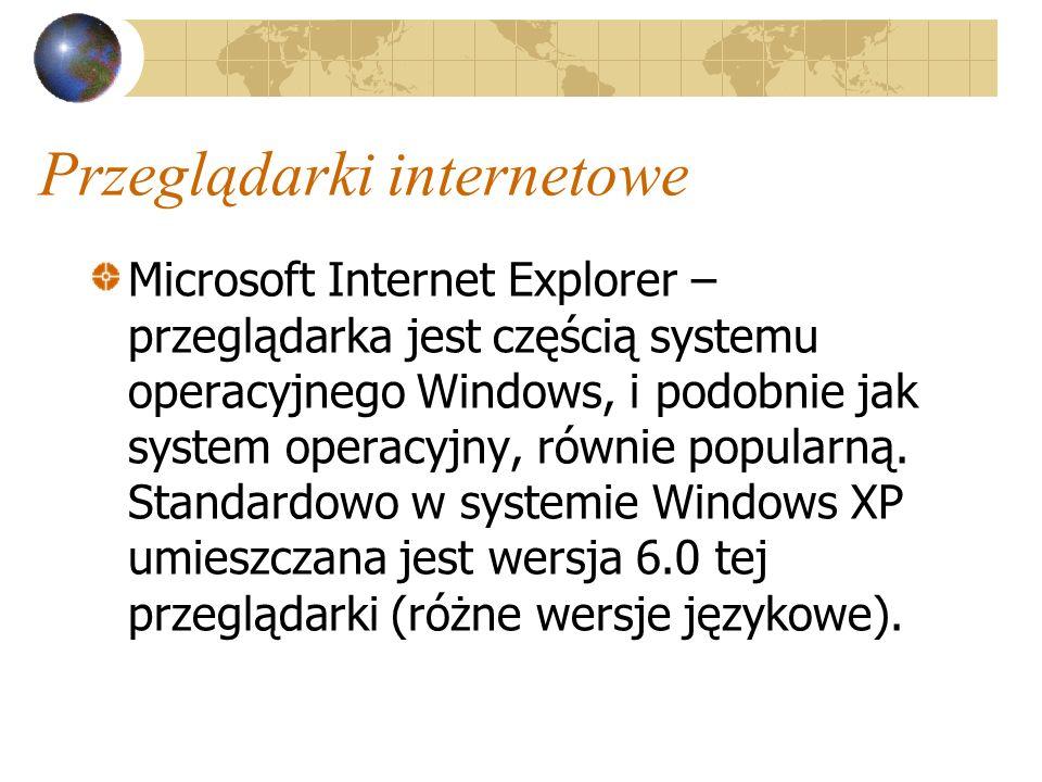 Przeglądarki internetowe Opera (wersja 6.04) – system Windows 98, ME, 2000, XP Mozilla 1.0 system Windows 98, ME, 2000, XP, Linux