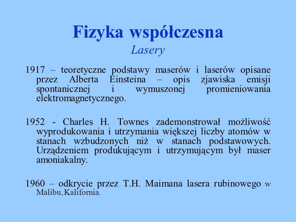 Laser – jest to skrót od angielskiego sformułowania L ight A mplification by S timulated E mission of R adiation co oznacza po polsku wzmocnienie światła przez wymuszoną emisję promieniowania.