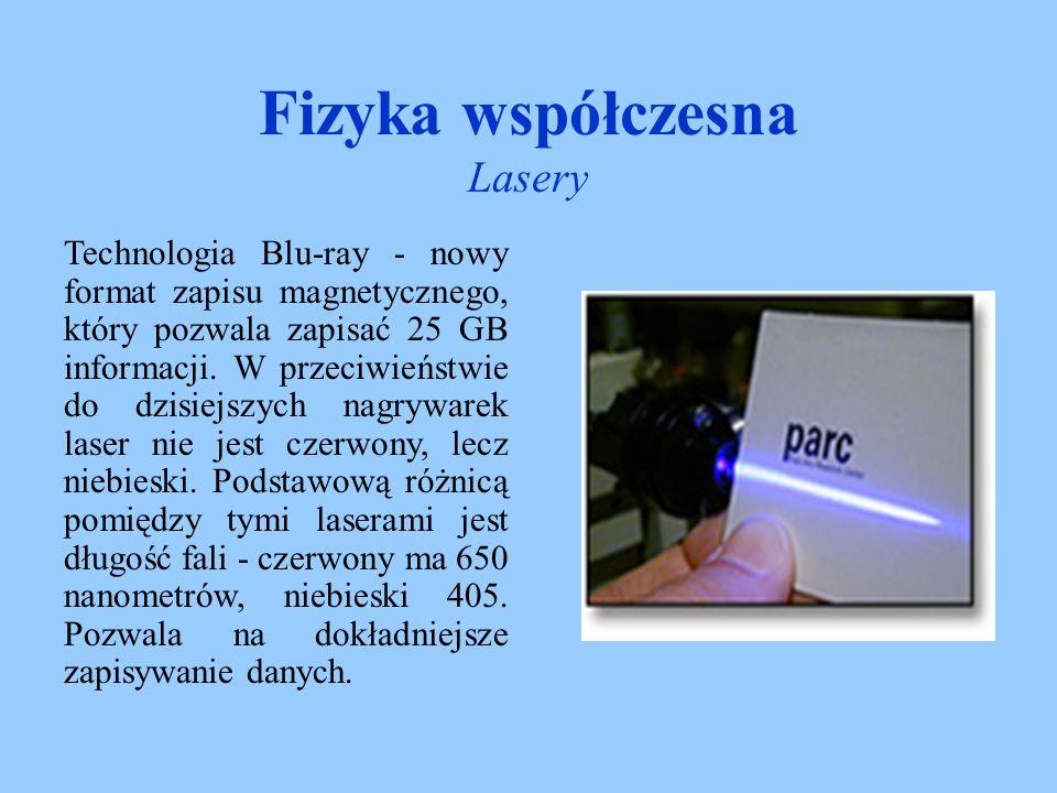 Fizyka współczesna Lasery LiDAR czyli Light Detection and Ranging Laser impulsowy wysyła krótkie w czasie paczki światła, które są rozpraszane wzdłuż drogi, również do tyłu.