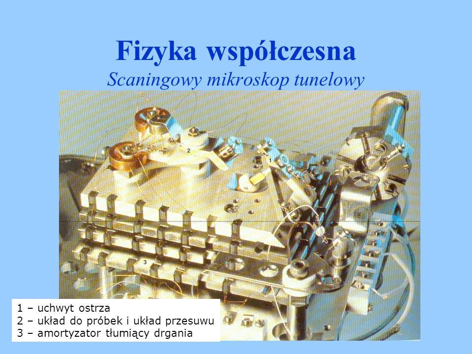 Fizyka współczesna Scaningowy mikroskop tunelowy Rekonstrukcja powierzchni krzemu o orientacji (111).