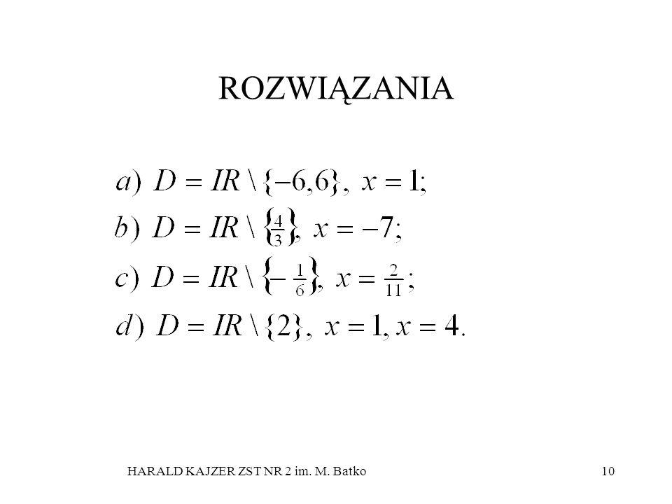 HARALD KAJZER ZST NR 2 im. M. Batko10 ROZWIĄZANIA