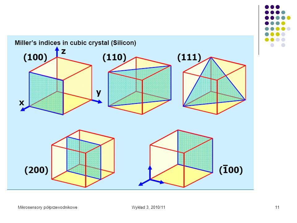 Mikrosensory półprzewodnikoweWykład 3, 2010/1111