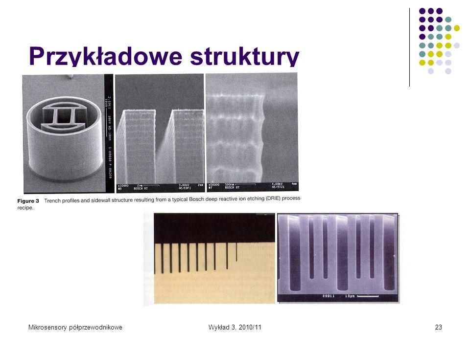 Mikrosensory półprzewodnikoweWykład 3, 2010/1123 Przykładowe struktury