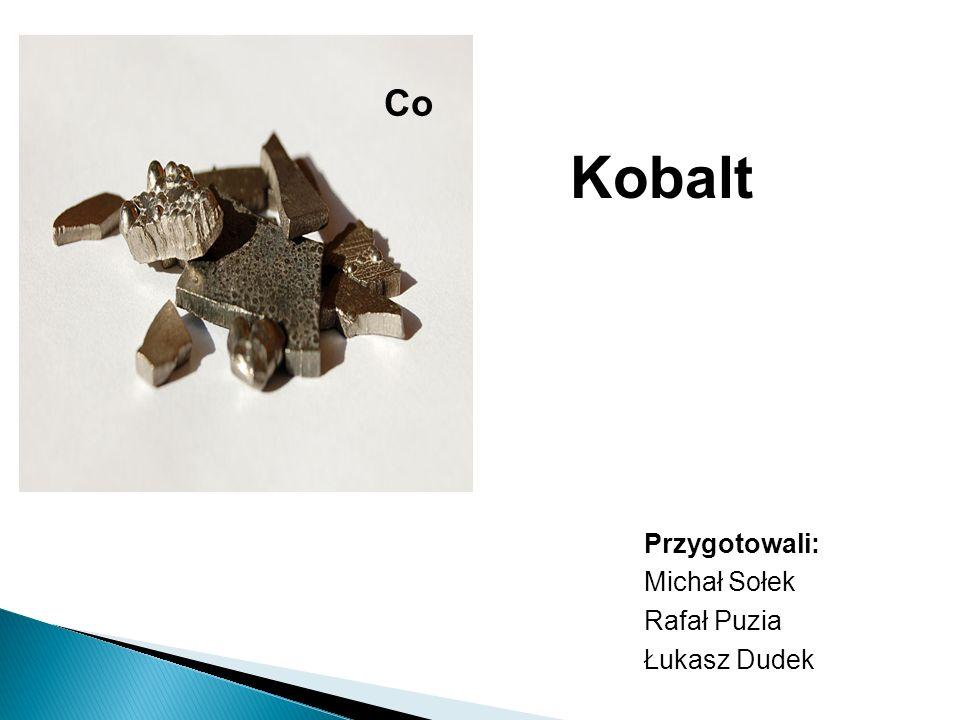 Stopy Kobaltu >Cenny składnik wielu złożonych stali stopowych i stopów >5% - 10% w stalach szybkotnących – wyższe temperatury hartowania >Ważny składnik stali i stopów o szczególnych właściwościach >Duże znaczenie w salach hartowanych na martenzyt (Co – Cr-W-Mo) i utwardzanych dyspersyjnie (Al-Ni-Co) >Stale i stopy żarowytrzymałe – zastępuje część niklu