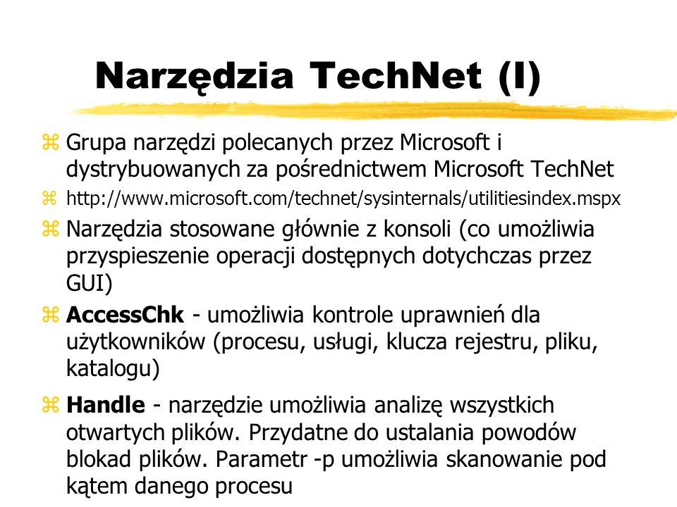 Narzędzia TechNet (I) zGrupa narzędzi polecanych przez Microsoft i dystrybuowanych za pośrednictwem Microsoft TechNet zhttp://www.microsoft.com/techne