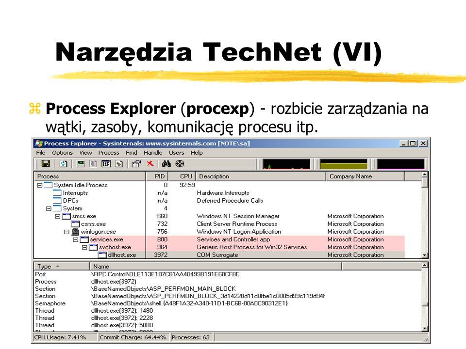 Narzędzia TechNet (VI) zProcess Explorer (procexp) - rozbicie zarządzania na wątki, zasoby, komunikację procesu itp.