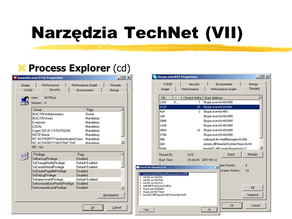 Narzędzia TechNet (VII) zProcess Explorer (cd)