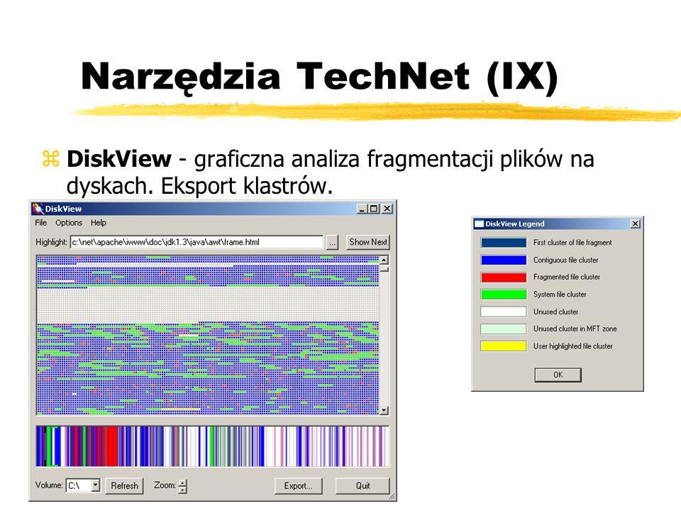 Narzędzia TechNet (IX) zDiskView - graficzna analiza fragmentacji plików na dyskach. Eksport klastrów.
