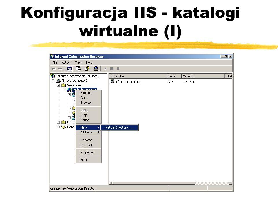 Konfiguracja IIS - katalogi wirtualne (I)