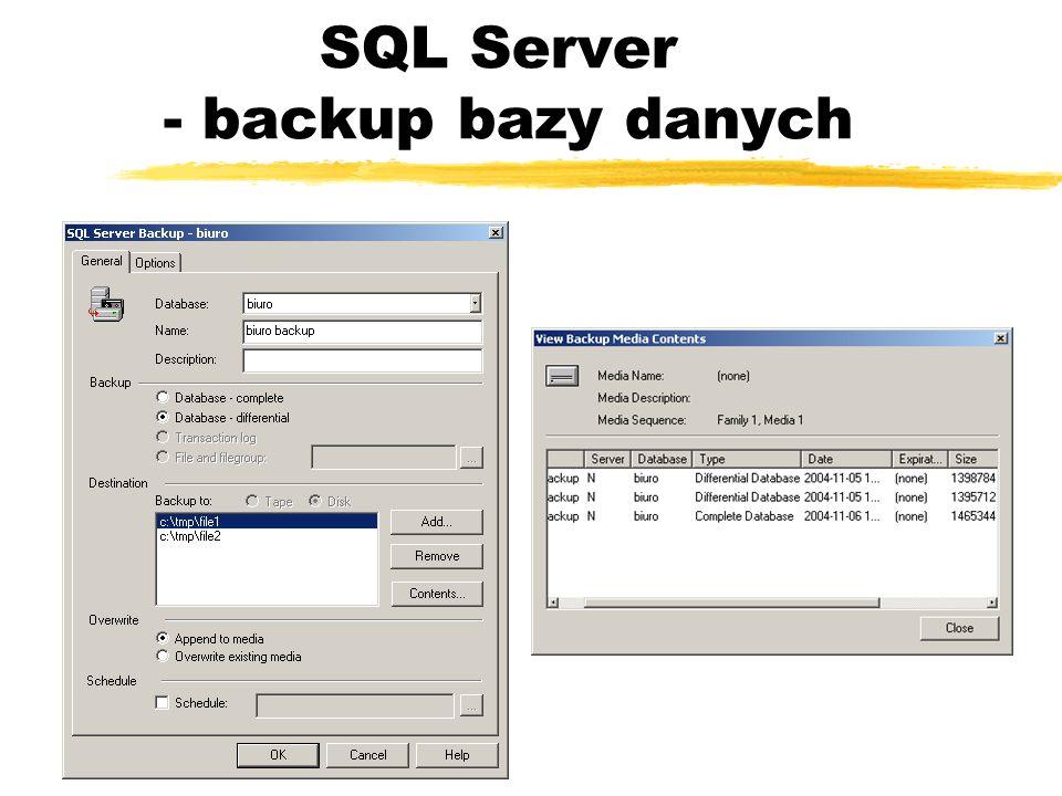 SQL Server - backup bazy danych