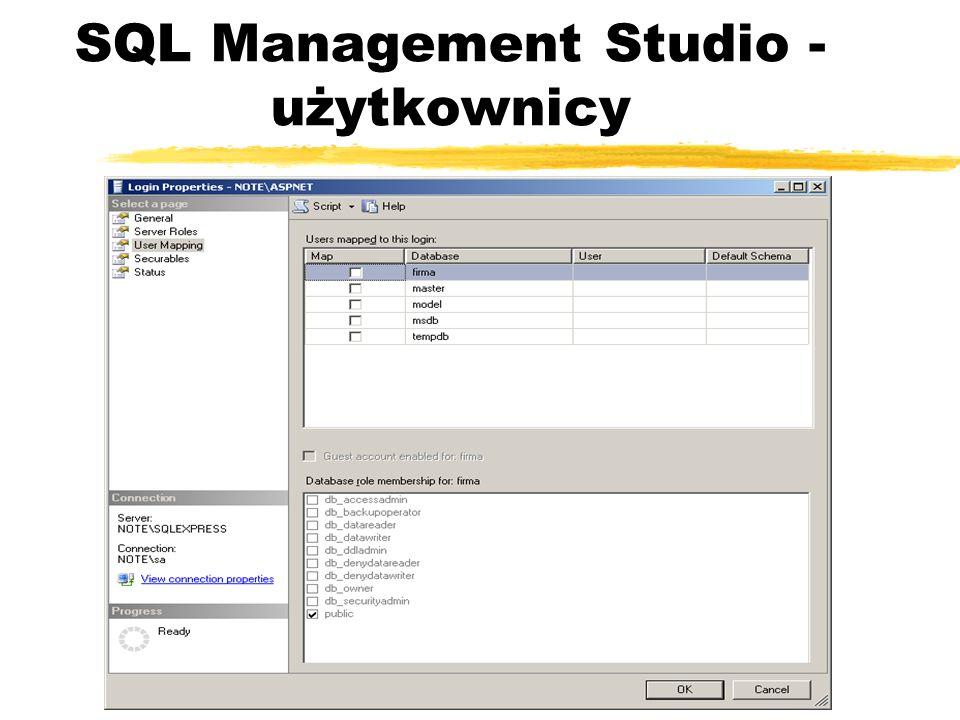 SQL Management Studio - użytkownicy