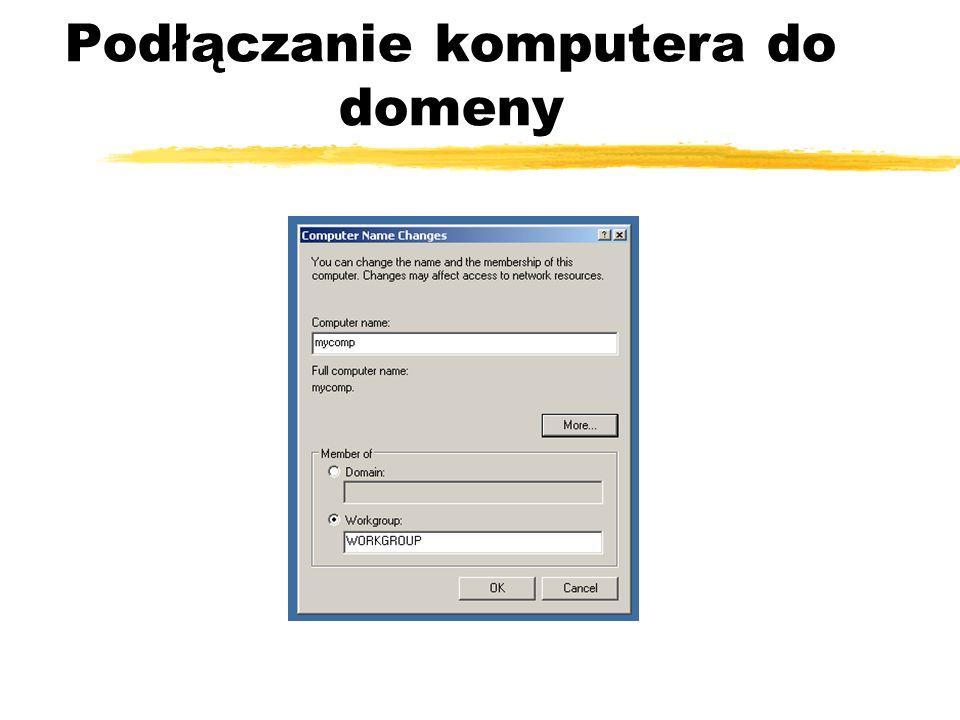 Podłączanie komputera do domeny