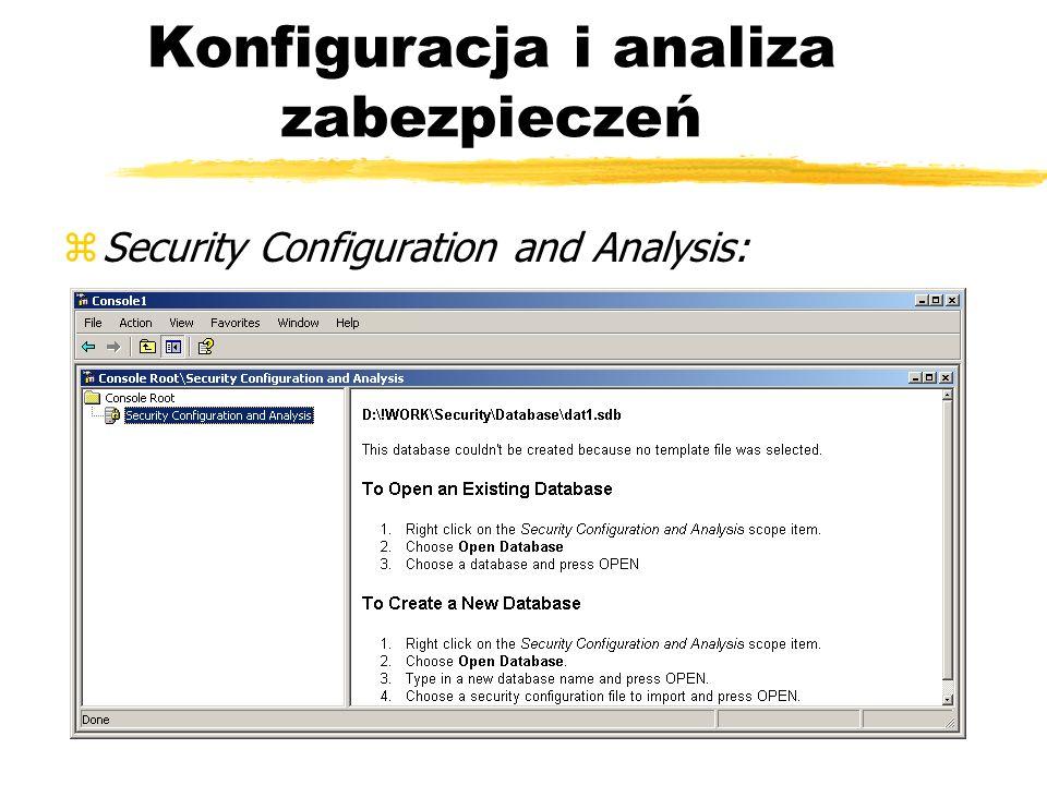 Konfiguracja i analiza zabezpieczeń zSecurity Configuration and Analysis: