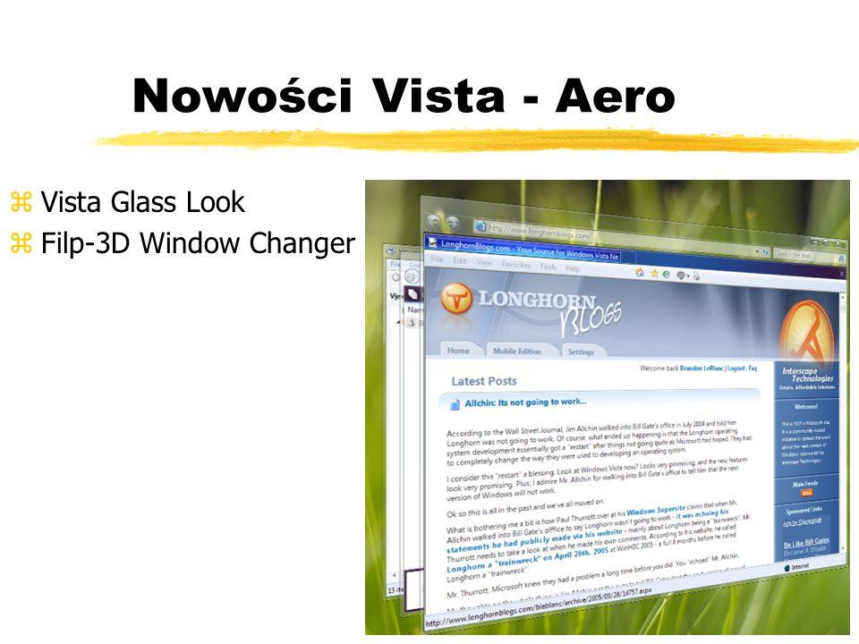 Nowości Vista - Aero zVista Glass Look zFilp-3D Window Changer