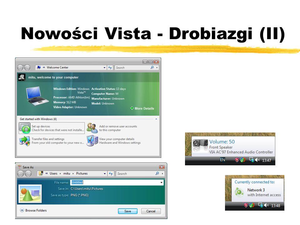 Nowości Vista - Drobiazgi (II)