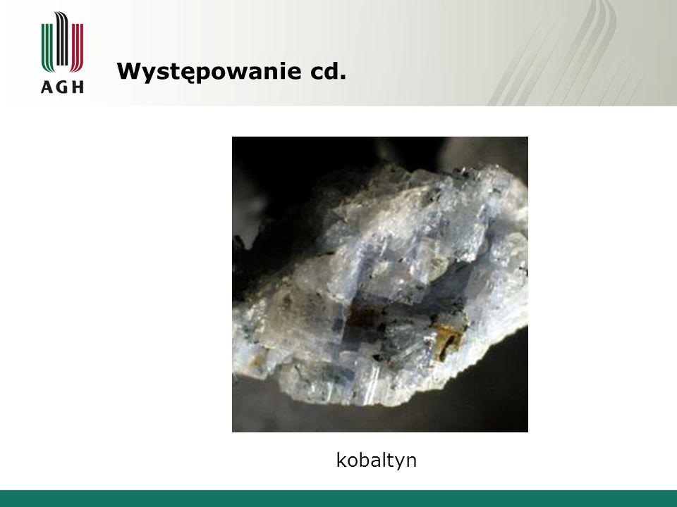 Występowanie cd. kobaltyn